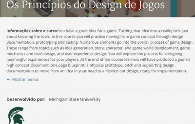 Estudos Gamers: Os Princípios do Design de Jogos